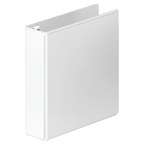 """Mead® Ultra Duty D-Ring View Binder with Extra Durable Hinge, 2"""", White"""