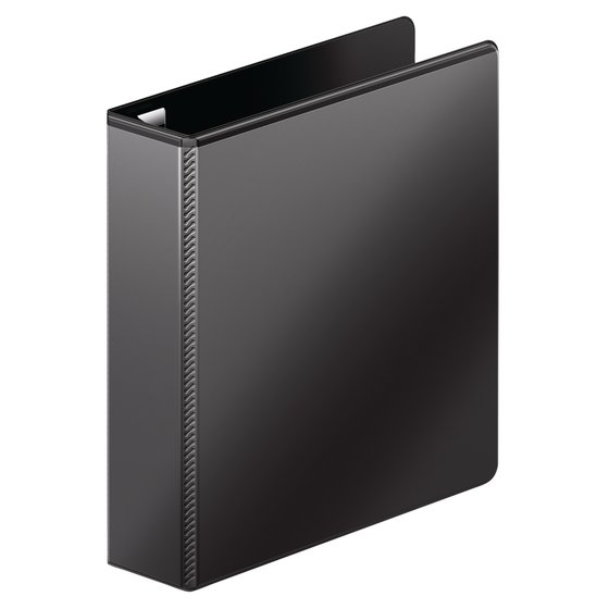 "Mead® Ultra Duty D-Ring View Binder with Extra Durable Hinge, 2"", Black"