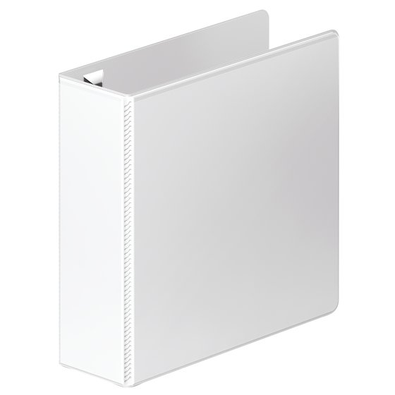 "Wilson Jones Ultra Duty Round Ring View Binder with Extra Durable Hinge, 3"", White"