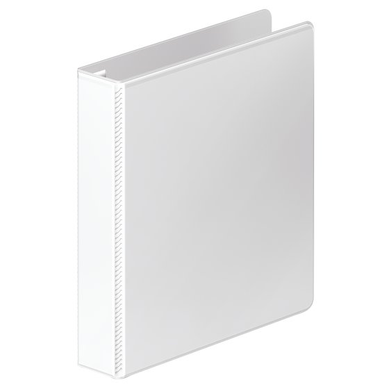 "Mead® Heavy Duty 1.5"" D-Ring View Binder, White"
