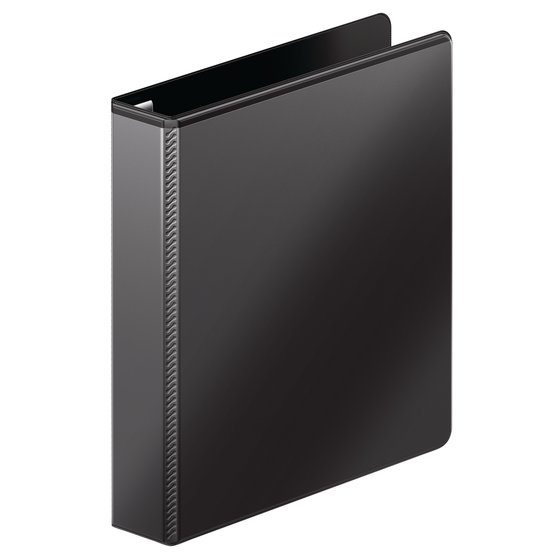 "Mead® Ultra Duty D-Ring View Binder with Extra Durable Hinge, 1 1/2"", Black"
