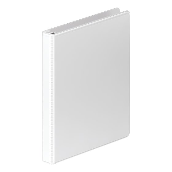 "Mead® Durable 0.5"" Round Ring View Binder, White"
