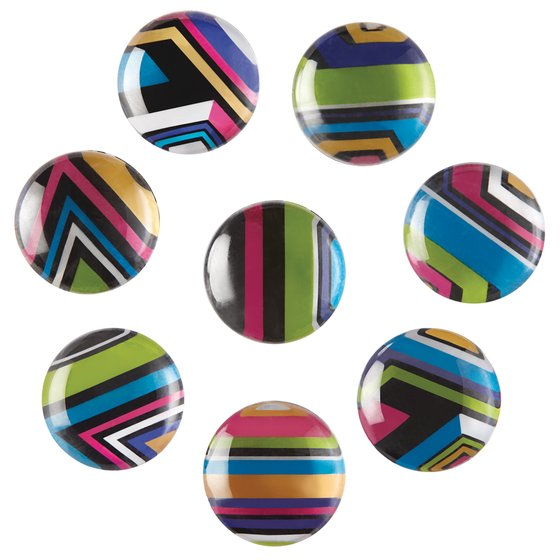 "Quartet Magnets, 1"", Multicolor, 8 Pack"
