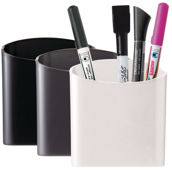 Quartet Magnetic Pencil/Pen Cup Holder, Assorted Colors