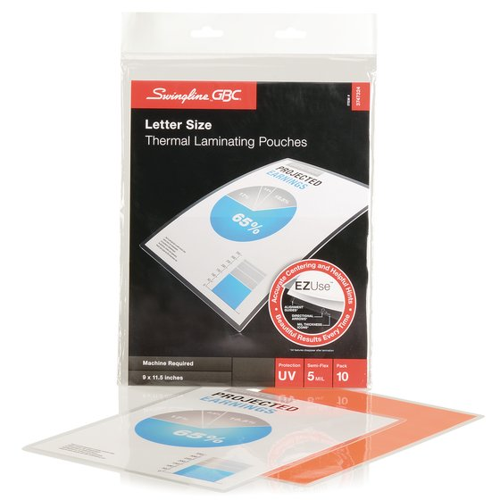 EZUse Thermal Laminating Pouches Letter Size 5 Mil 10 pcs