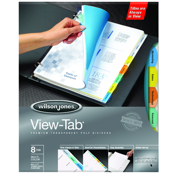 Wilson jones binder accessories printable dividers for Templates wilson jones 8 tabs