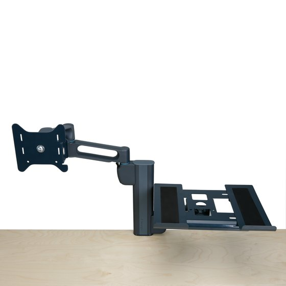 Kensington® Column Mount Notebook - Monitor Dual Arm with SmartFit® System