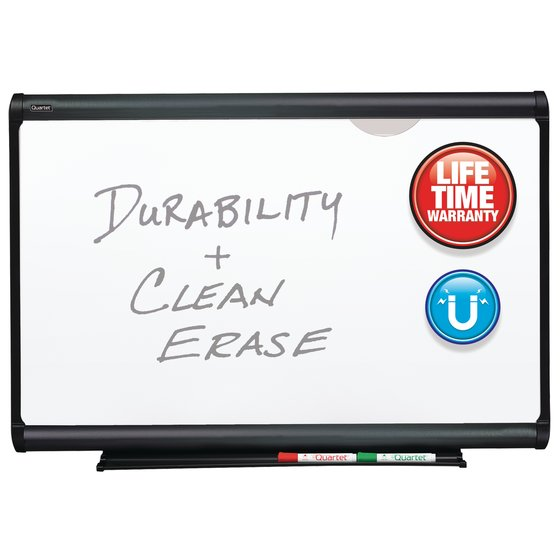 Quartet® Prestige Plus® DuraMax® Porcelain Magnetic Whiteboards, Graphite Finish Frame