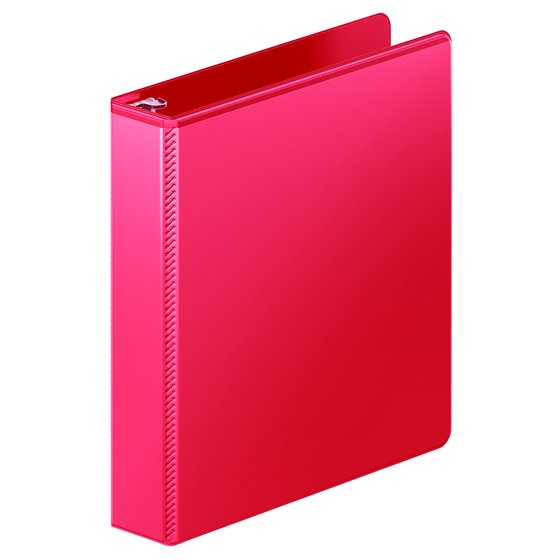 "Mead® Ultra Duty D-Ring View Binder with Extra Durable Hinge, 1 1/2"", Red"