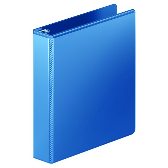 "Mead® Ultra Duty D-Ring View Binder with Extra Durable Hinge, 1 1/2"", Light Blue"