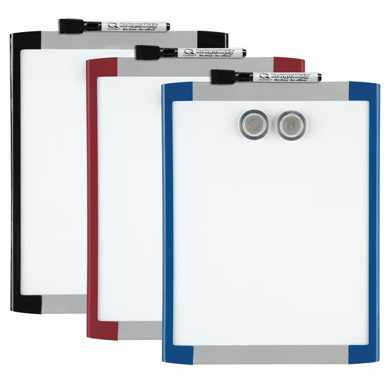 "Quartet Magnetic Dry-Erase Board, 8 1/2"" x 11"", Assorted Frame Colors"