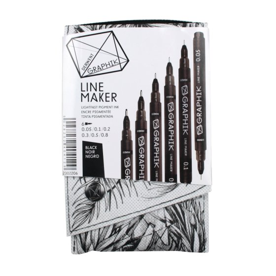 Graphik Line Maker Black Pack of 6