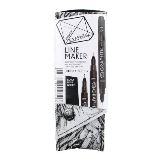 Graphik Line Maker Black Pack of 3