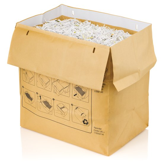 Swingline 30 Gallon Recyclable Paper Shredder Bags, For Large Office Shredders, 50/Box