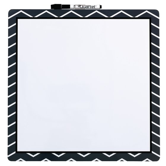 Magnetic Dry Erase Fashion Board Chevron 360x360mm