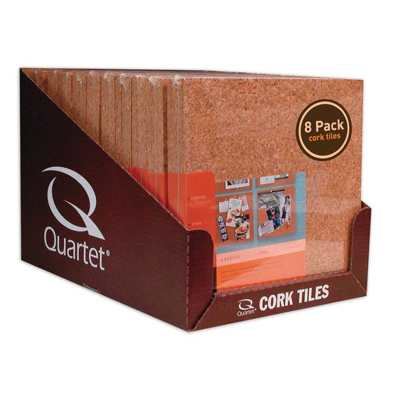 "Natural Cork Tiles, Club Pack, 12"" x 12"",  8 Pack"