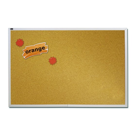 Quartet® Natural Cork Bulletin Boards, Aluminum Frame