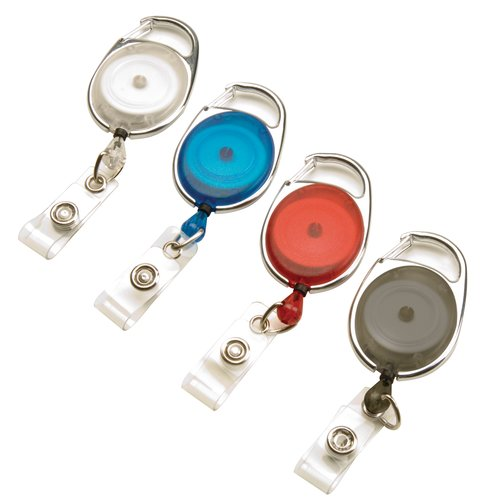 Swingline® GBC® Translucent Retractable Carabiner Badge Reels