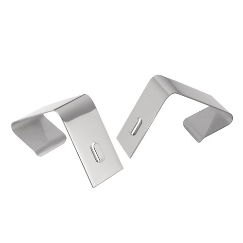 "Quartet® Cubicle Partition Hangers, Fits 1.5"" – 2.5"" Thick Cube Walls, Silver Finish"