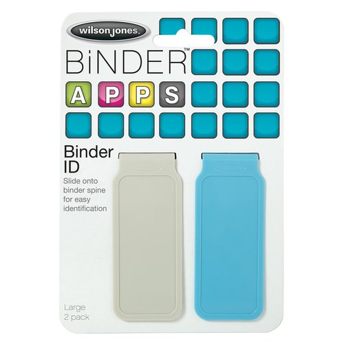 Wilson Jones® Binder ID, Large, Assorted Colors, 2 Pack