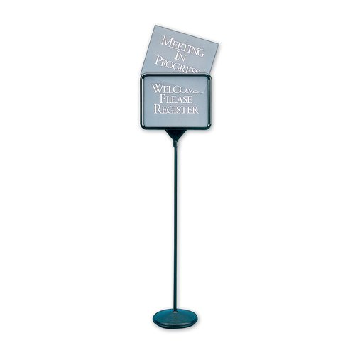 "Quartet® Sign(ware)™ Pedestal Sign, 52"", Double-Sided, Includes 12 Assorted Messages"