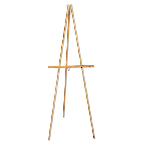 "Quartet® Lightweight Wood Display Easel, 64"", Tripod Base"