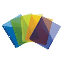 Wilson Jones® Poly Slash Jackets, Letter Size, Assorted Colors, 5 Pack