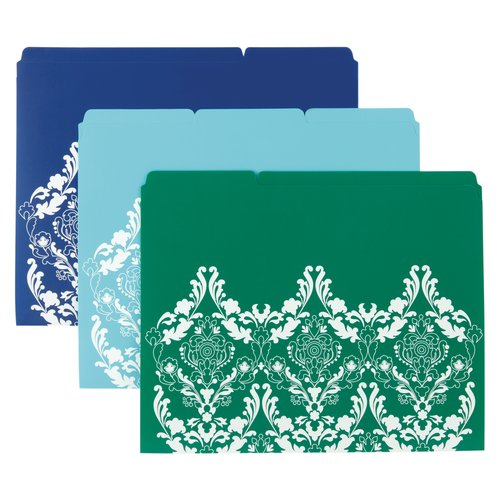 Wilson Jones® Recycled File Folders, Assorted Colors