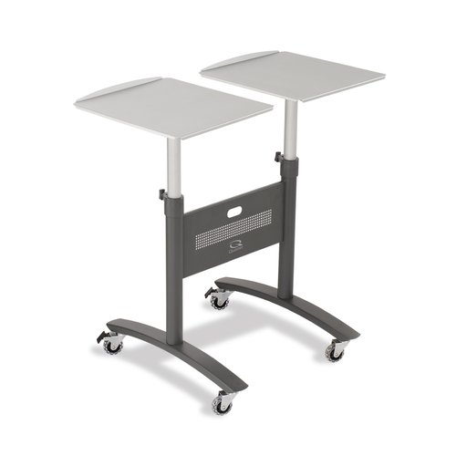 Quartet® Euro™ Double Arm LCD Projector Cart, 2 Shelves, Supports 22 lbs.