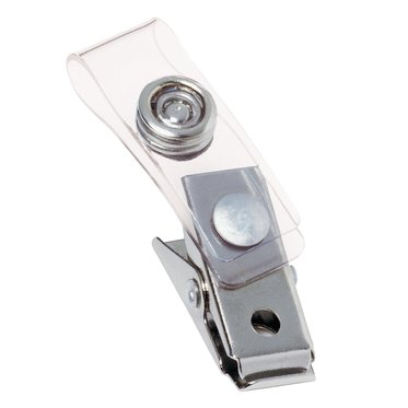 GBC ID Badge Clips, Clear, Badge Holder Clip, 100 Per Pack (1122897)