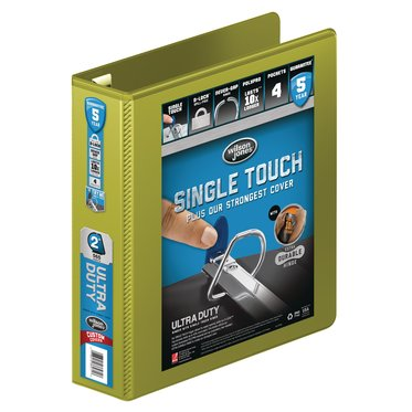 "Wilson Jones® Ultra Duty D-Ring View Binder with Extra Durable Hinge, 2"", Army Green"
