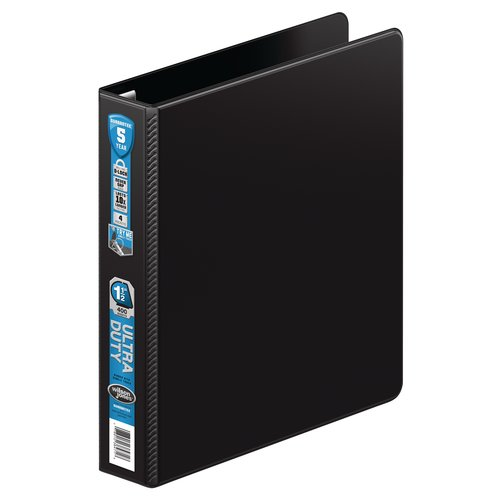 "Wilson Jones® Ultra Duty D-Ring Binder with Extra Durable Hinge, 1 1/2"", Black"