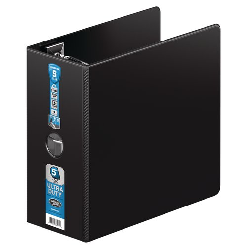 "Wilson Jones® Ultra Duty D-Ring Binder with Extra Durable Hinge, 5"", Black"