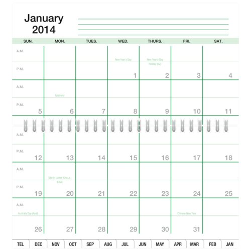 Indexed 2-Page-Per-Month Wire-Bound Planner