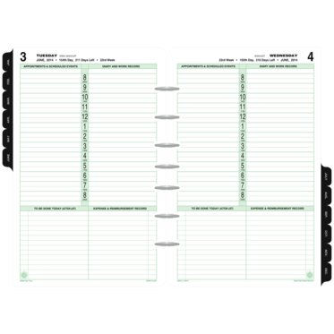 1-Page-Per-Day Diary Refill with Storage Set