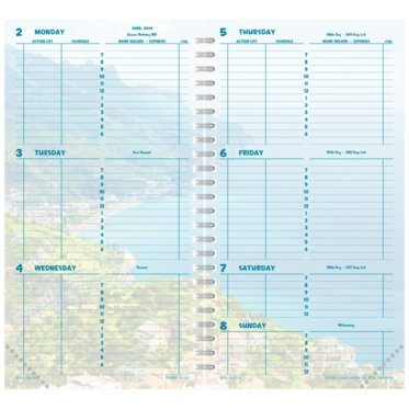 Pocket size - Wire-Bound Planner - Coastlines 2-Page-Per-Week - January 21
