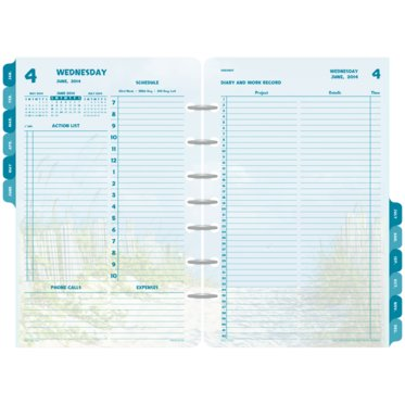 Coastlines 2-Page-Per-Day Diary Refill with Storage Set