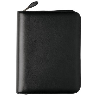 Desk size - Personal Organiser - Armorhide Leather Binder - Zippered - Black - 2PPD January 21