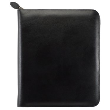 Folio size - Personal Organiser - Armorhide Leather Binder - Zippered - Black - 2PPW January 21