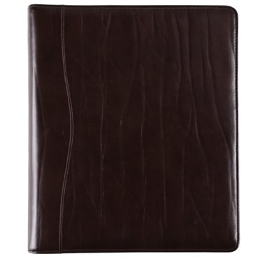 Folio size - Western Coach Leather Binder - Open