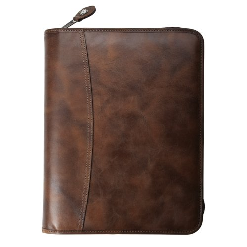 Outback Leather Binder - Zippered