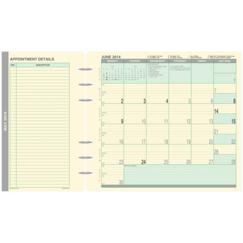 Fold-Out Monthly Planner Dividers