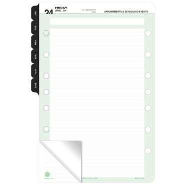 Double Punched Short-Trimmed Ruled Sheets - Jumbo Pack