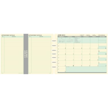 Desk Size - Fold-Out Monthly Planner Dividers - January 21