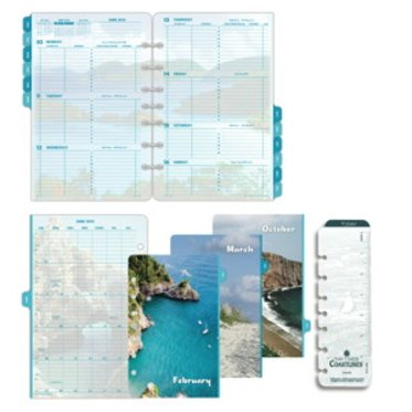 Coastlines 2-Page-Per-Week Diary Refill