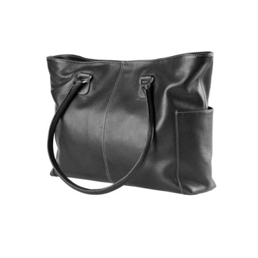 Black Malibu Leather Tote