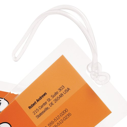 HeatSeal Specialty Pouches, Plastic Luggage Loops, 100 pcs