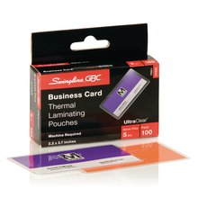GBC UltraClear Thermal Laminating Pouches, Business Card Size, 5 Mil, 100 Pack