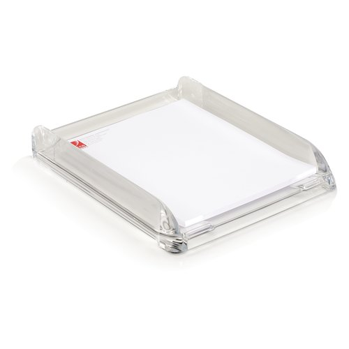 "Swingline® Stratus™ Acrylic Document Tray, 13 1/4"" x 10 3/4"" x 2 1/2"", Clear"