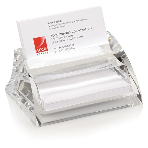 "Swingline® Stratus™ Acrylic Business Card Holder, 4 1/2"" x 3 1/2"" x 2 1/4"", Clear"